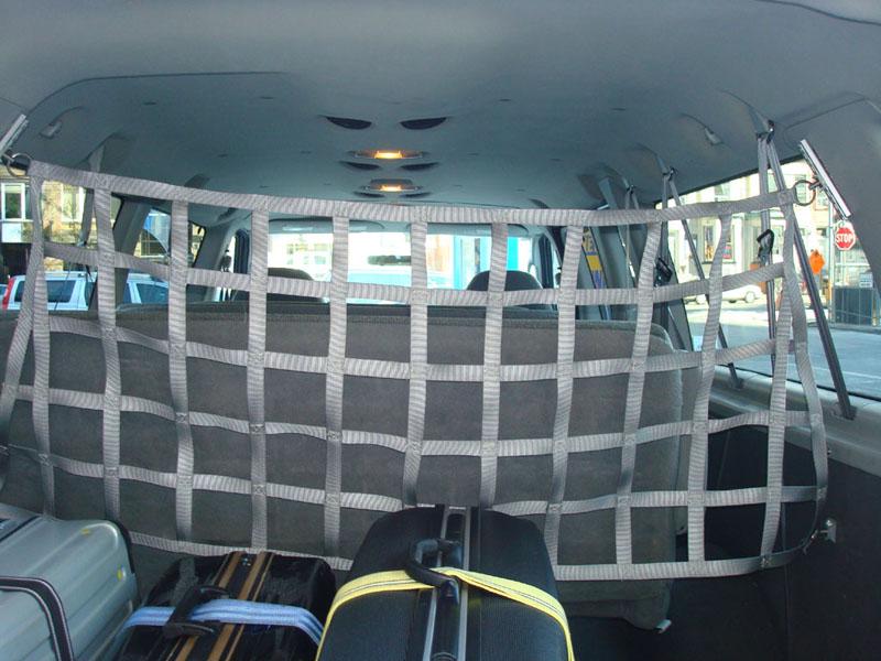Custom interior van cargo net cts tie down specialty
